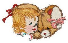 Touching friendship 3 embroidery design