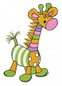 Toy giraffe embroidery design