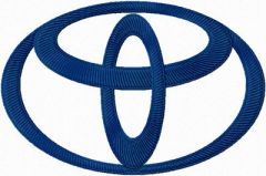 Toyota Logo embroidery design