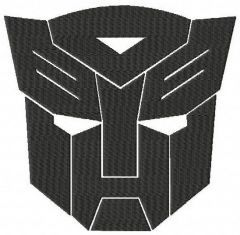 Transformers logo embroidery design