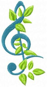 Treble clef 11 embroidery design