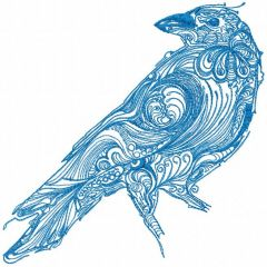 Tribal Crow embroidery design