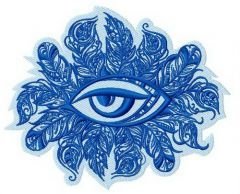 Tribal eye embroidery design