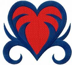 Tribal heart 4 embroidery design
