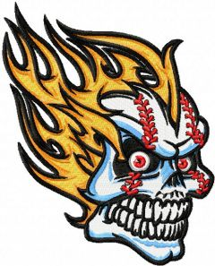 Scull mascot embroidery design