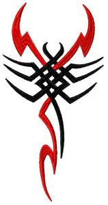 Tribal scorpion 2 embroidery design