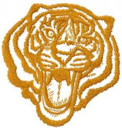 Tribal tiger 9 embroidery design