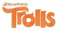 Trolls logo 2 embroidery design