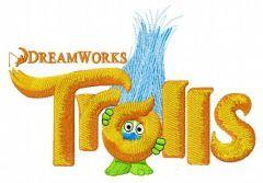 Trolls logo embroidery design