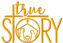 True Story free embroidery design