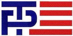 Trump Pence logo embroidery design
