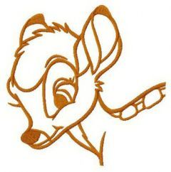 Trustful Bambi embroidery design