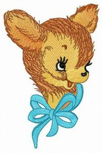 Trustful fawn embroidery design
