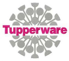Tupperware logo embroidery design