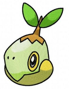 Turtwig embroidery design 2