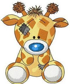 Twiggy Giraffe 2 embroidery design