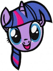 Twilight Sparkle muzzle embroidery design