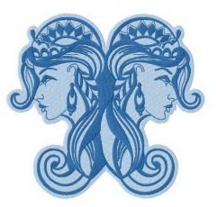 Twins 2 embroidery design