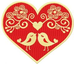 Two Lovebirds embroidery design