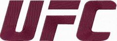 Ultimate Fighting Championship logo embroidery design
