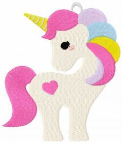Unicorn toy embroidery design
