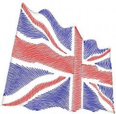 Union Jack embroidery design