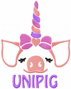Unipig embroidery design