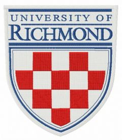 University of Richmond logo embroidery design