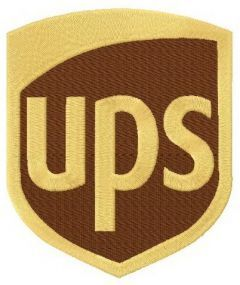 UPS logo classic with tatami border embroidery design