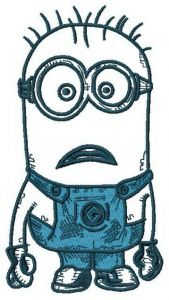 Upset Minion embroidery design