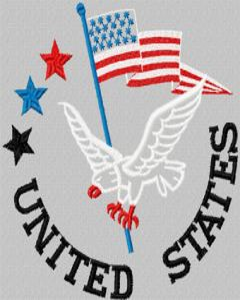 USA Eagle embroidery design