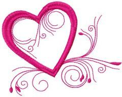 Valentine's day Heart embroidery design
