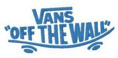 Vans alternative logo embroidery design