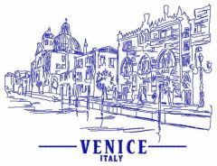 Venice Italy 2 embroidery design