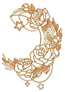 Vernal moon 3 embroidery design