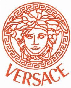 Versace logo 2 embroidery design