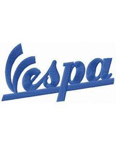 Vespa logo embroidery design