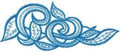 Vignette embroidery design