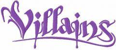 Villains script logo embroidery design