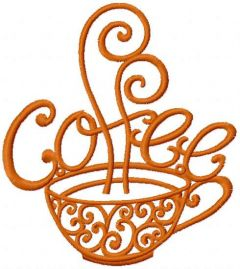 Vintage coffee embroidery design