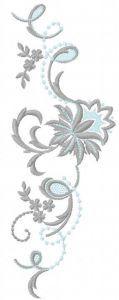Vintage flower decoration embroidery design