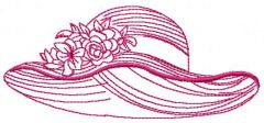 Vintage hat embroidery design