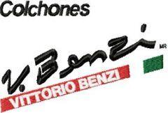 Vittorio Benzi Logo embroidery design