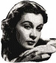 Vivien Leigh embroidery design