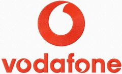 Vodafone logo embroidery design