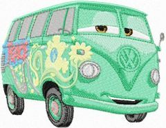 Fillmore Volkswagen bus embroidery design
