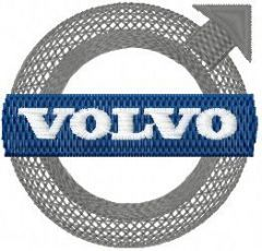 Volvo Logo embroidery design