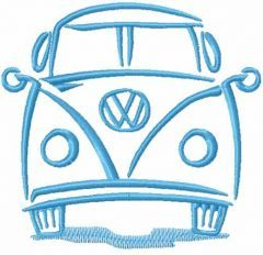 VW Volkswagen Bus embroidery design