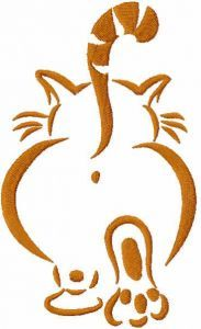 Walking cat free embroidery design