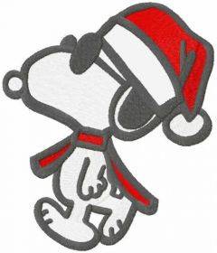 Walking Christmas Snoopy embroidery design